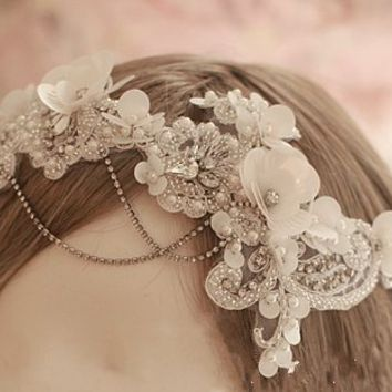 Lace Accessory,Princess Accessory, Party Accessory, Wedding Hair Accessory , Bridal Hair Accessory