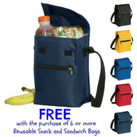 Free Insulated Lunch Cooler Back To School Promo Zipper Closure Reusable Snack and Sandwich Bags You Choose Fabrics