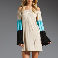 James & Joy Lucca Dress in Aqua/Black from REVOLVEclothing.com