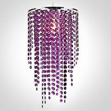 Tu Long Beaded Pendant Purple Shade - Shades & pendants - Furnishings - Dining room - Home & garden - Sainsbury's