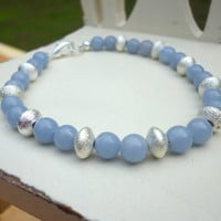 Blue Bracelet, Periwinkle and Silver