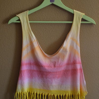 Summer Coastline Fringed Tee