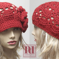 2-in-1 Lacy Shells Crochet Newsboy/Cloche PDF Pattern