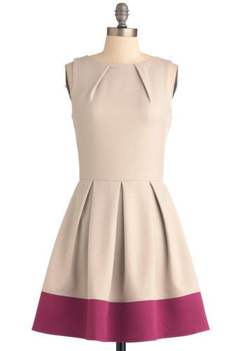 Shoreline Soiree Dress in Khaki | Mod Retro Vintage Dresses | ModCloth.com