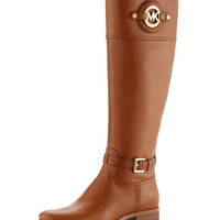 Stockard Leather Riding Boot - MICHAEL Michael Kors - Luggage