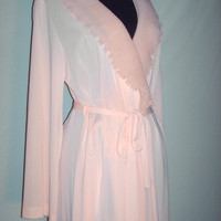 Vintage 1960s Night Gown Peach Robe