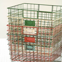 Olive Manna - Weathered Wire Gym Baskets