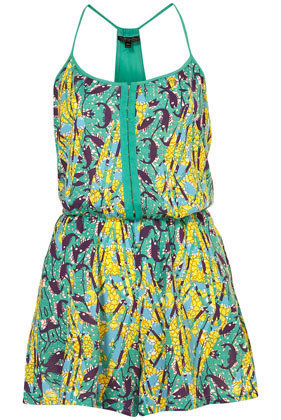 Green Calypso Playsuit - Rompers  - Apparel