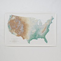 Topographic USA Wall Map | Schoolhouse Electric & Supply Co.