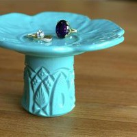 Tiffany Blue Ring Pedestal / Jewelr.. on Luulla