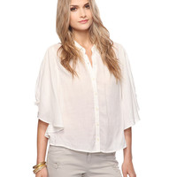 Gauzy Cape Top