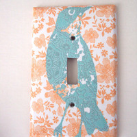 Dreamsicle Summer Switchplate Cover in soft Pastels