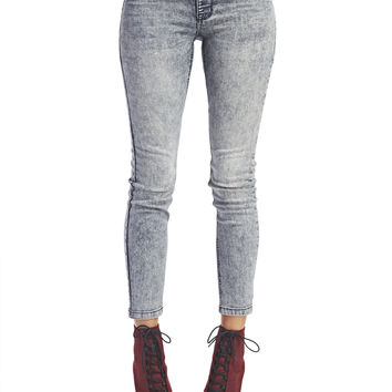 Acid Wash Jeggings - Short | Wet Seal