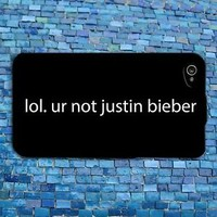 Rubber Cute Justin Bieber Phone Cover Funny Music Quote Case iPhone 6 4s 5 5s 5c