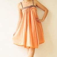 Wind of change.... Orange Cotton Dress 2 Sizes Available