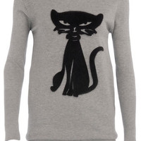 Cutie grey cat jumper - Knitwear & Cardigans - Clothing - Dorothy Perkins