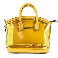 Clear Handbags Yellow Diamond Heart- ecosusi.com
