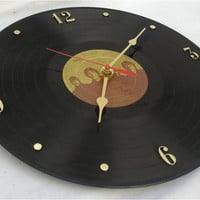 The BEATLES Love Songs - Recycled Vinyl Record Wall Clock