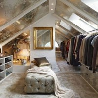 Insanely Luxurious Closets Attic Closet via The Estate of Things