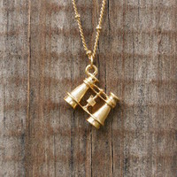 Charming Binocular Necklace [2956] - $9.00 : Vintage Inspired Clothing &amp; Affordable Summer Dresses, deloom | Modern. Vintage. Crafted.