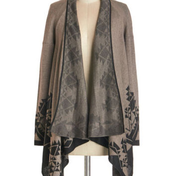 ModCloth Rustic Long Long Sleeve Winsome Woodlands Cardigan