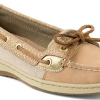Sperry Top-Sider Angelfish Fishscale Slip-On Boat Shoe Cognac/Gold, Size 7M  Women's Shoes