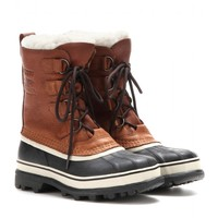 sorel - caribou leather and rubber boots