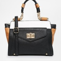 Dune Danzie Tan Black And White Handbag - Tan/white