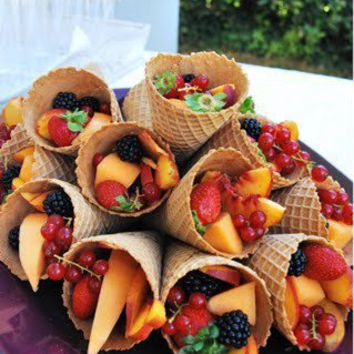 Food Court / fruit cones - great idea!