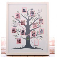 Family Tree Print, Home Accessories from Berry Red