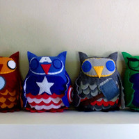 Avengers Owl Plush Set--Pick Any Two, Three, or Four