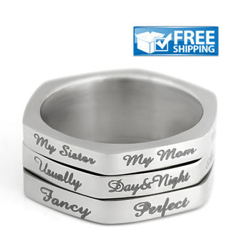 Spinner Ring, Square Ring,  Spin Ring, Sister Ring, Stacking Ring, Compliment Generator