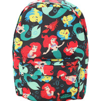 Disney The Little Mermaid Ariel Flounder Sebastian Backpack