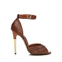 Nappa Leather Ankle-Strap Sandal