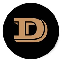 Capital Letter D Large Round Stickers by Janz
