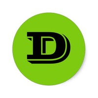 Capital Letter D Small Round Stickers by Janz