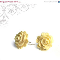 Christmas in July SALE Elegant Rose Earrings