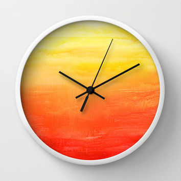 Sunset Wall Clock by Timone | Society6