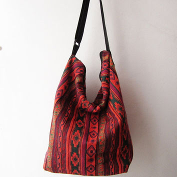 tribal crossbody ,hippie hobo messenger bag, aztec cross body bag, hipster school bag,ikat native american bag
