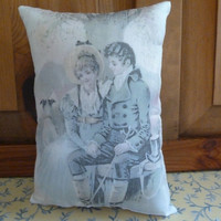 Jane Austen Style Pillow with Lizzie Bennet Quote