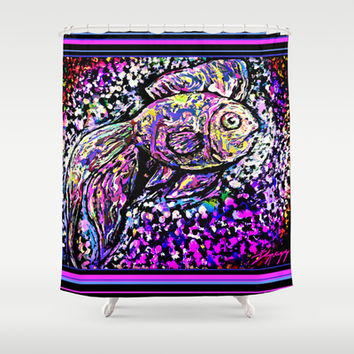"""Aquarium V3"" by Jeffrey Scott Spragg Shower Curtain by Jeffrey Scott Spragg"