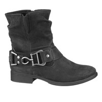 black Sable slouch bootie with buckle