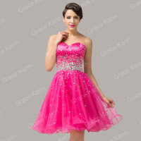 Illusion Short Prom Party Evening Homecoming Dresses Wedding Quinceanera Dress