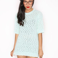 Mint Green Knit Top