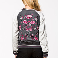 ANGELINA JACKET - floral embroidery bomber jacket