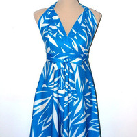 Sundress and bikini top. VINTAGE. 1960s / 1970s. Nelbarden. Swim suit cover up / swimwear.