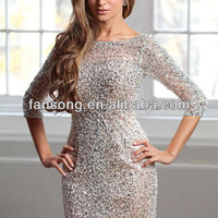 Real Pitures Of Sexy Back Long Sleeve Beading Silver Cocktail Dress 2013 - Buy Real Pictures Of Cocktail Dress,Beaded Nude Short Cocktail Dress,Formal Cocktail Dresses For Christmas Party Product on Alibaba.com