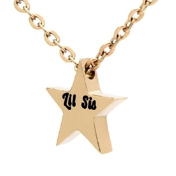 "Little Sister Necklace, Tiny Star Necklace for Lil Sister, Perfect Sister Gift gift 18"" Chains Included"