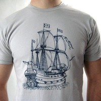 Men's Screen Printed American Apparel Nautical by Rabbitapparel