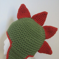 Crocheted Dinosaur Hat Size 1-4 Years